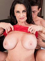 Rita Daniels, Blowjob, Cumshot, Mature, Rita And Her Son's Big-dicked Friend