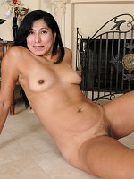 Estrella Jane - Exotic 43 year old Estrella Jane slips off her black elegant dress