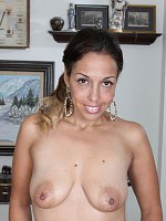 Josephine Noelle - Ebony 37 year old Josephine Noelle from AllOver30 getting naked